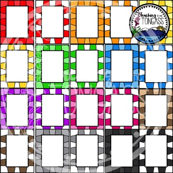 Board Game Frames Clipart Bundle