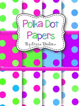 Neon Polka Dot Background Papers~Summer Brights Collection