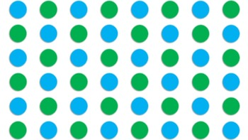 Polka Dot Background - blue and green