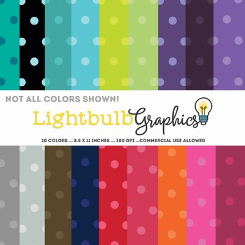 Polka Dot Backgrounds - 20 Colors! FREE - Commercial Use Allowed