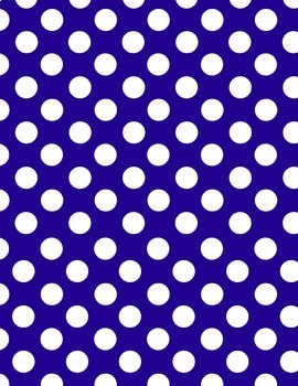 Polka Dot Backgrounds - 8.5 x 11 - 300dpi - 29 Colors!