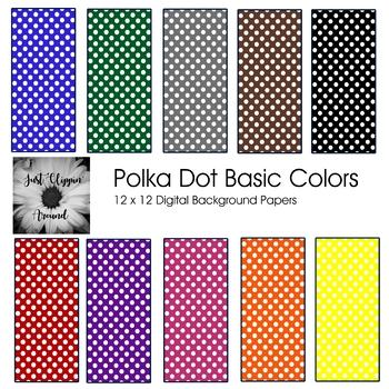Polka Dot Backgrounds Basic Colors