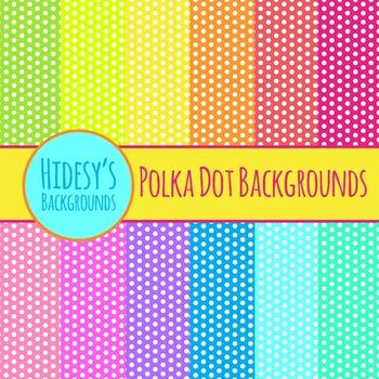 Polka Dot Backgrounds Clip Art Commercial Use