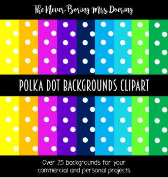 Polka Dot Backgrounds Clipart
