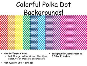 Polka Dot Backgrounds/Digital Paper
