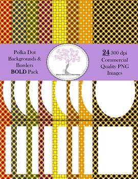 Polka Dot Backgrounds and Borders BOLD Pack