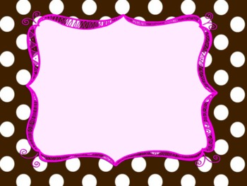 Polka Dot Backgrounds with Frames