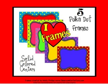 Backgrounds  {polka dots with Solid Centers}