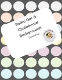 Polka Dot Backgrounds--with bonus borders {FREEBIE}