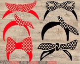 Polka Dot Bandana Silhouette SVG farm cowboy wild west western scarf Dots 826S