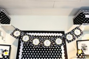 Classroom Decor Polka Dot  Welcome Banner