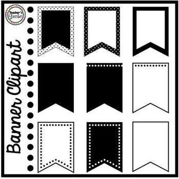 Polka Dot Banner Clipart
