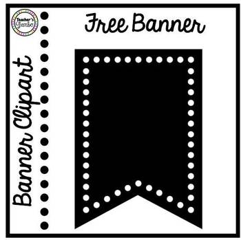 Polka Dot Banner Freebie Clipart