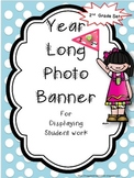 Polka Dot Banner for Display of 2nd Grade Work