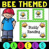 Polka Dot Bee Labels for  Word Wall, Classroom Library, an