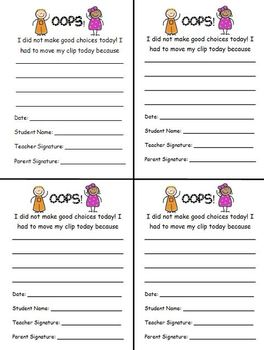 Polka Dot Behavior Calendar and Report