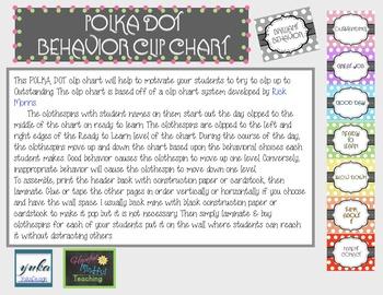 Polka Dot Behavior Chart