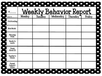 Polka Dot Behavior Chart Record