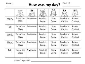 Behavior Chart and Forms (Polka Dot Monster)