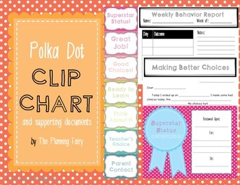 Polka Dot Behavior Clip Chart Bundle