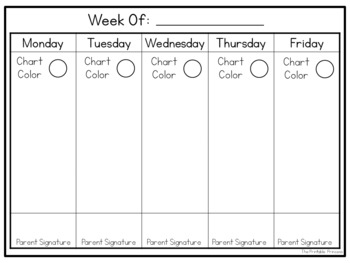 Polka Dot Behavior Clip Chart {Editable}