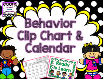 Polka Dot Behavior Clip Chart - Freebie!