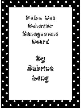 Polka Dot Behavior Management Board
