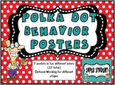 Polka Dot Behavior Tracking Posters