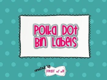 Polka Dot Bin Labels