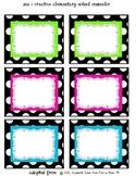 Polka Dot - Bin Labels