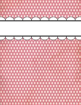 Polka Dot Binder Cover Bundle - 7 Colors