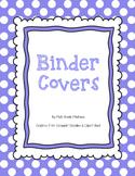 Polka Dot Binder Covers