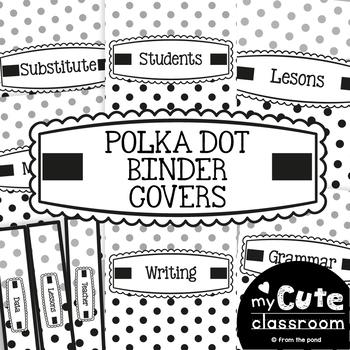 Teacher Binder Covers - Polka Dot