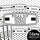 Teacher Binder Covers - Polka Dot