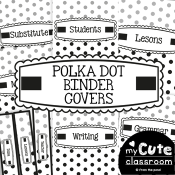 Binder Covers - Polka Dot