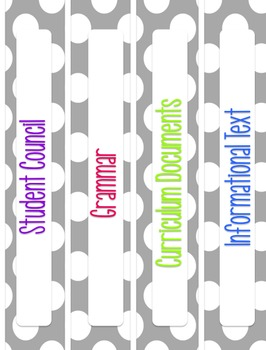 Polka Dot Binder Covers - Editable