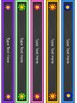 Polka Dot Binder Covers Editable