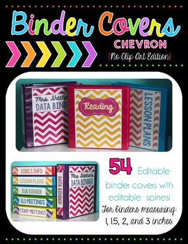 Chevron Binder Covers - Editable {No Clip Art Edition}