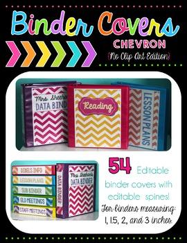 Chevron Binder Covers - Editable {No Clip Art Edition}