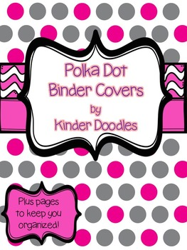 Polka Dot Binder Covers & Pages