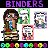 Polka Dot Binders and Spines Plus Labels EDITABLE