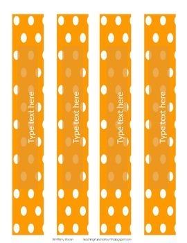 Polka Dot Binder Covers and Spines EDITABLE