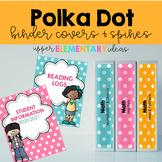 Binder Cover Printables -- Polka Dot