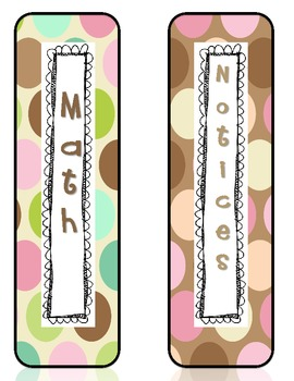 Polka Dot Binder Labels