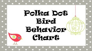 Polka Dot Bird Behavior Chart