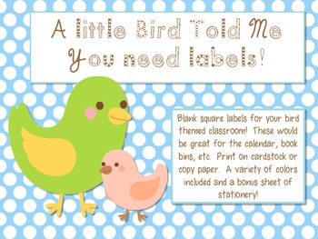 Polka Dot Bird Label Decor with BONUS