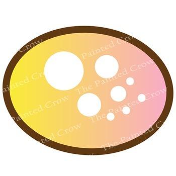 Polka Dot Birds Clipart - Color & Black Line Illustrations - 21 piece set