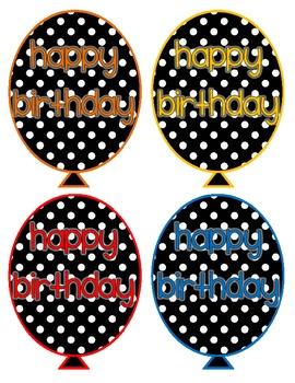 Polka Dot Birthday Balloons