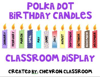 Polka Dot Birthday Candles Display