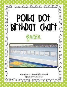 Polka Dot Birthday Chart {Green}